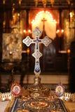 Objetos religiosos para a cerimónia de casamento imagens de stock royalty free