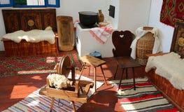Objetos romenos tradicionais do camponês Imagens de Stock
