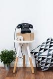 Objetos simples de la decoración, interior blanco minimalista Imagen de archivo libre de regalías