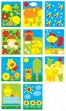 Objetos simples para el jardín de la infancia Fotografía de archivo