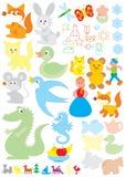 Objetos simples para el jardín de la infancia Foto de archivo libre de regalías