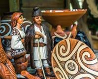 Objetos tradicionales rumanos foto de archivo libre de regalías
