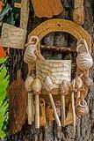 Objetos tradicionales rumanos de la madera 1 foto de archivo