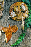 Objetos tradicionales rumanos de la madera 3 foto de archivo libre de regalías