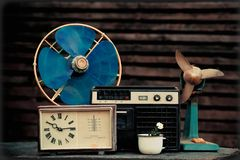Objetos velhos de 70-90 anos Imagens de Stock