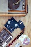 Objetos velhos de 70-90 anos Fotografia de Stock