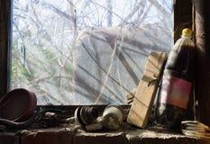 Objetos velhos na tela Fotos de Stock