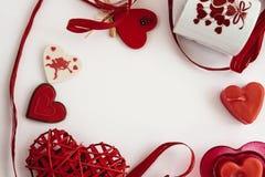 Objets élégants de l'amour pour la célébration de jour de valentines pour un cou Image libre de droits