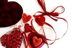 Objets élégants de l'amour pour la célébration de jour de valentines pour un cou Images libres de droits