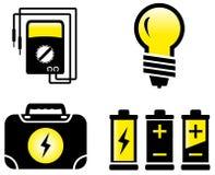 Objets électriques brillants illustration stock