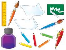 Objets d'école illustration de vecteur