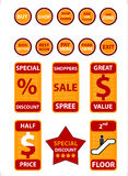 Objets d'achats - (contrôle à l'extérieur mon portefeuille pour les graphismes semblables !) Photographie stock