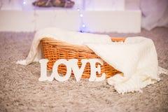 Objets d'amour de Word dans la maison Photographie stock libre de droits