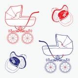 Objets d'enfant. Image stock
