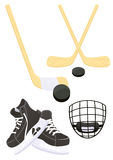 Objets d'hockey Photographie stock