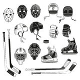 Objets d'hockey Images stock
