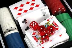 Objets de casino photos stock
