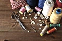 Objets de couture photographie stock