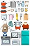 Objets de cuisine Photographie stock libre de droits