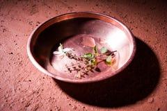 Objets de cuivre utilisés en Sandhya Vandanam, rituel traditionnel de Bramhin Photographie stock libre de droits