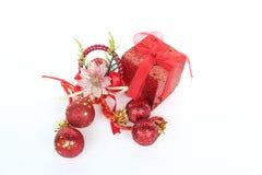 Objets de décoration de Noël et de nouvelle année Photographie stock libre de droits