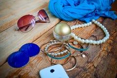 Objets de femme de mode de bases Image stock
