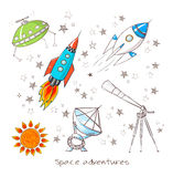 Objets de l'espace Illustration de vecteur Photo stock