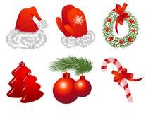 Objets de Noël Photo stock
