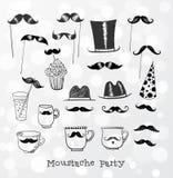 Objets de partie de moustache i Image stock