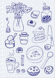 Objets de petit déjeuner Photo stock