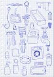Objets de salle de bains Image stock