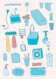 Objets de salle de bains Image libre de droits