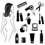 Objets de salon de beauté Image stock