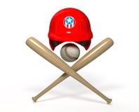 Objets du base-ball 3D Images libres de droits