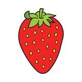 objets du dessin animé 3d au-dessus de blanc de fraise de photo Images stock