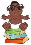 Objets du ` s de bébé et d'éducation de nègre illustration libre de droits
