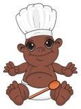 Objets du ` s de bébé et de cuisine de nègre illustration de vecteur