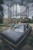 Objets et endroits de montagnes russes perdus à temps Photographie stock