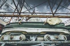 Objets et endroits de montagnes russes perdus à temps Images stock