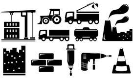 Objets et outils industriels réglés Photographie stock libre de droits