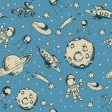 Objets et symboles de l'espace sans couture illustration libre de droits