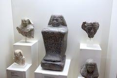 Objets exposés d'Egiptian dans le musée de l'archéologie, Athènes, Grèce Image libre de droits