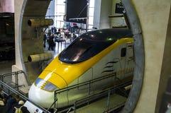 Objets exposés dans le musée ferroviaire national à York, Yorkshire Angleterre Photos stock