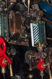 Objets exposés dans le musée ferroviaire national à York, Yorkshire Angleterre Photo stock
