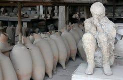 Objets exposés de Pompeii Photo libre de droits