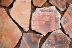 Objets façonnés indiens de poterie d'Anasazi Images libres de droits