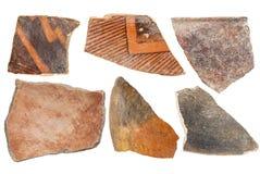 Objets façonnés indiens de poterie d'Anasazi Images stock