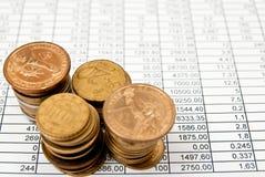 Objets financiers Image libre de droits