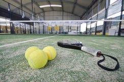 Objets grands-angulaires de tennis de palette Photo libre de droits