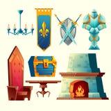 Objets intérieurs de vecteur pour le concepteur du jeu d'imagination illustration libre de droits